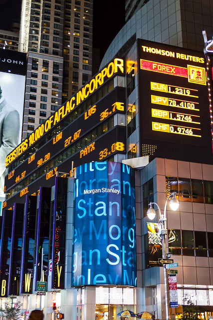 Morgan Stanley ticker, Times Square