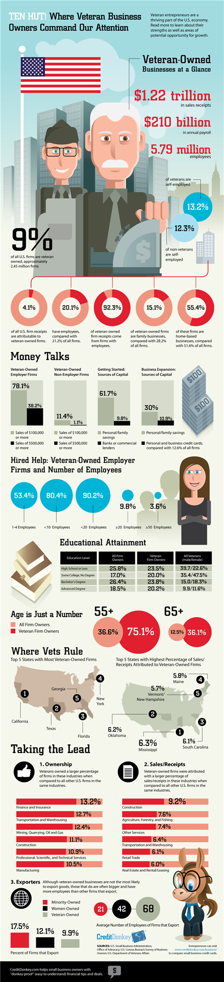 Infographic: Veteran Business Owners