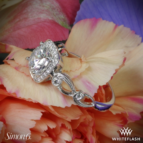 Simon G. Halo Diamond Engagement Ring