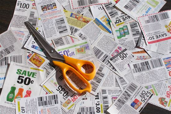 Clipped Coupons With Scissors 1