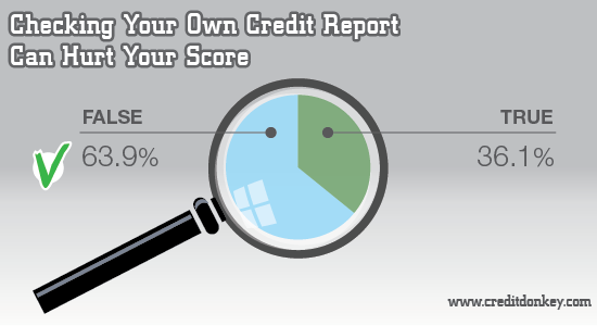 Infographics: Checking your own credit report