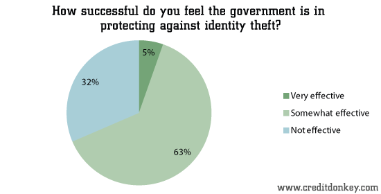 How successful do you feel the government is in protecting against identity theft?