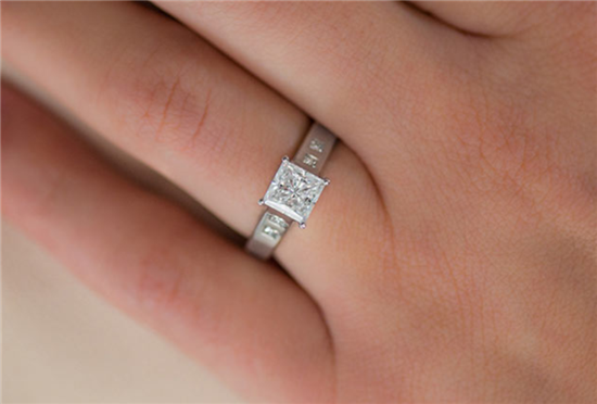 Princess Engagement Ring by Jeff Cooper