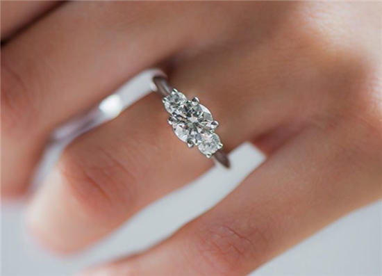 3 Stone Diamond Engagement Ring