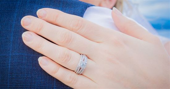 usually after getting married the woman will wear the wedding ring on the same finger as her engagement ring the wedding ring goes on the bottom - How To Wear Wedding Rings