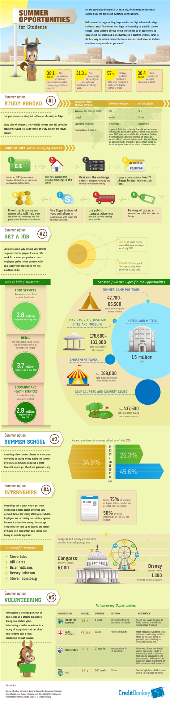 Infographic: Summer Opportunities for Students