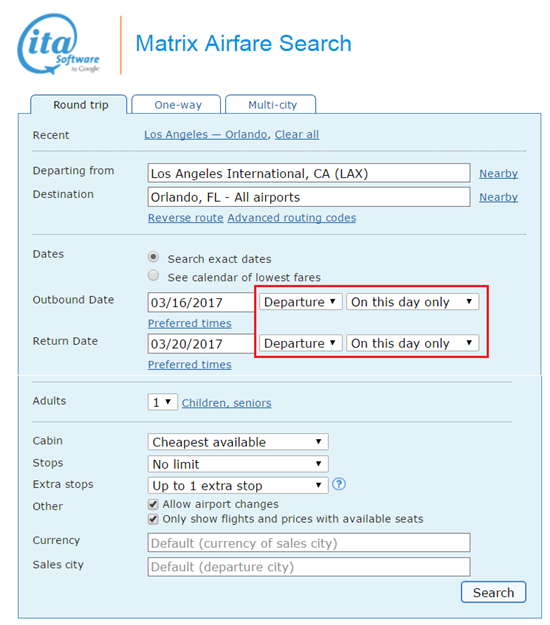 Search Ita Matrix For Flights What You Must Know For 2019
