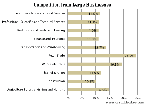 Competition from Large Businesses