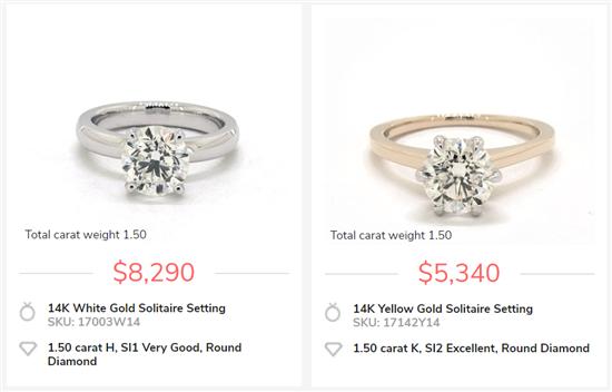 2.25Carat Square Princess /& Round D//VVS1 Wedding Ring 10K White Gold Over