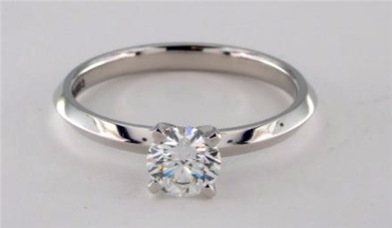 A 0.5 DIAMOND SOLITAIRE IN KNIFE EDGE DESIGN