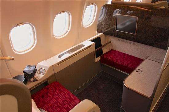 First Class Seat - Qatar Airways A340-600