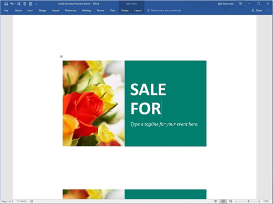 How To Make Postcards In Word