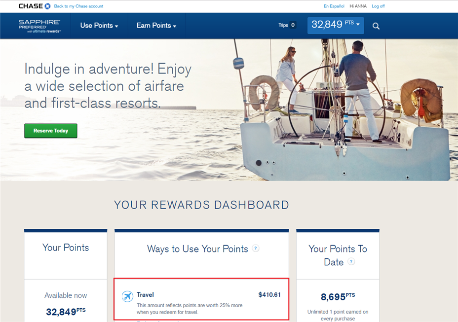 Book Travel on Chase Travel Portal for Best Deal