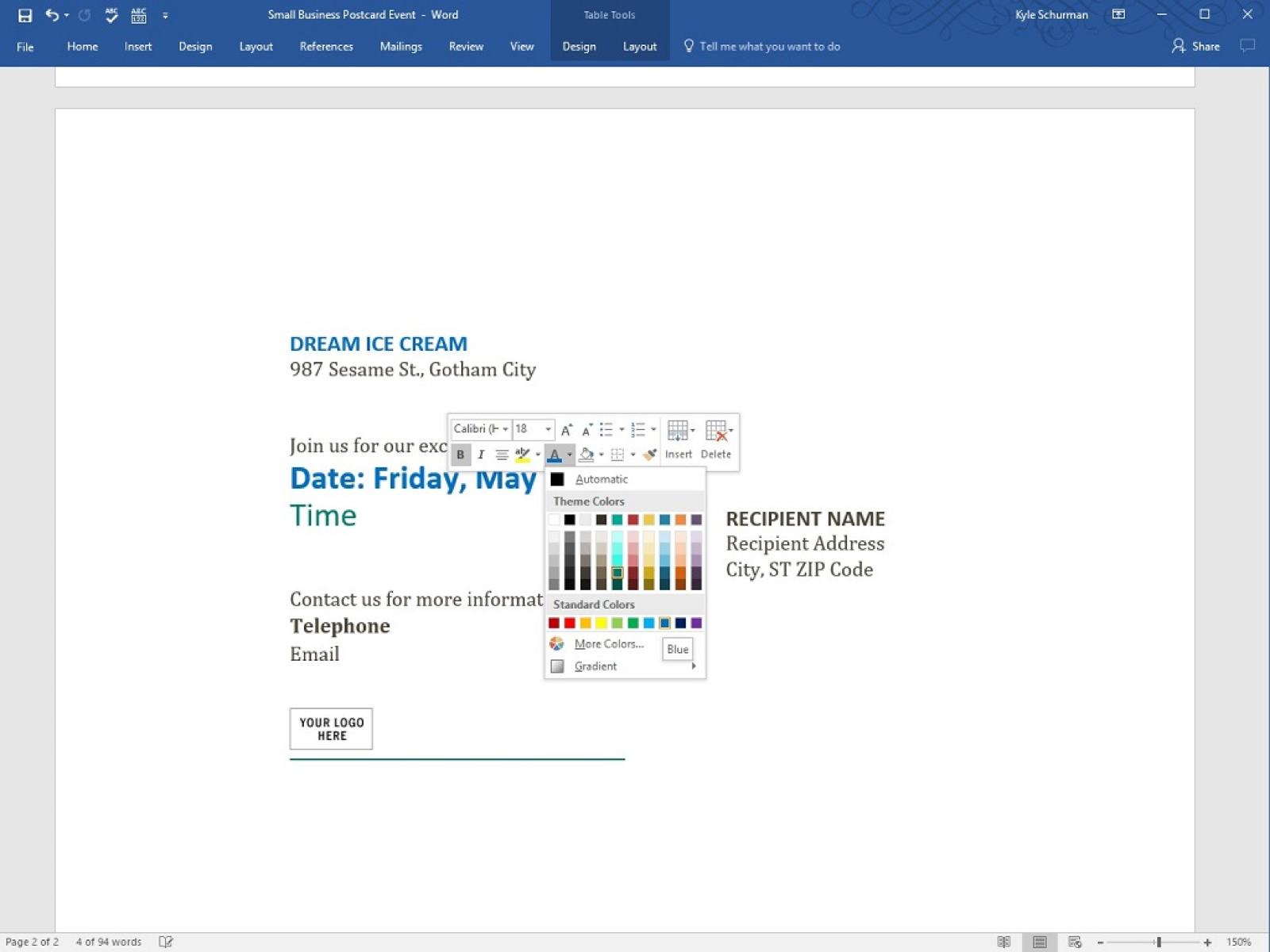 How To Make Postcards In Word Creditdonkey