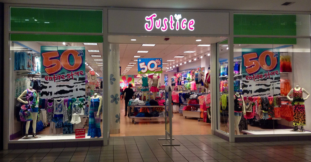 Justice clothing store online application
