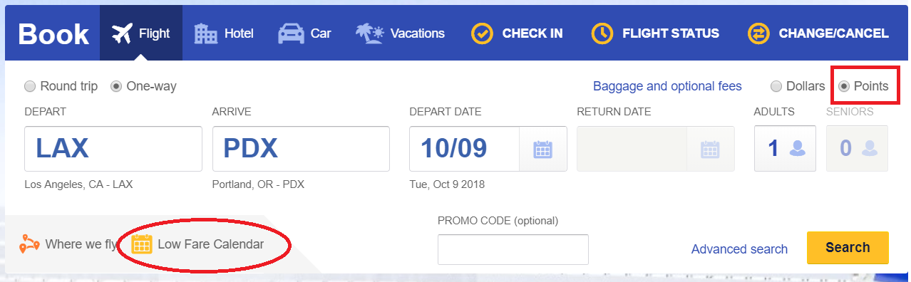 You Ll See All The Flight Options On That Date And Points Needed Non Stop Flights With Lowest Will Always Show Up First